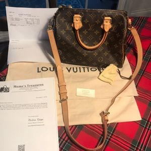 Louis Vuitton Speedy  Bandouliere  25
